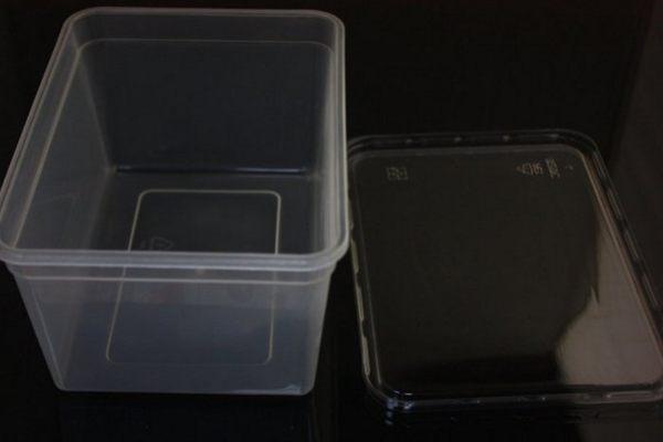 5入 1000CC PP餅乾盒 冰淇淋盒 可微波 月餅盒 喜餅盒 西點盒 麵包盒S016