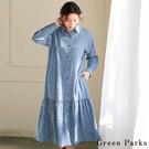 ■Chocol Raffin■  採用可愛小花圖案 女孩感十足 襯衫式連身洋裝 任何場合都適合