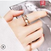 秒殺網紅食指鈦鋼戒指女不掉色日韓玫瑰金潮人學生個性大氣時尚聖誕交換禮物