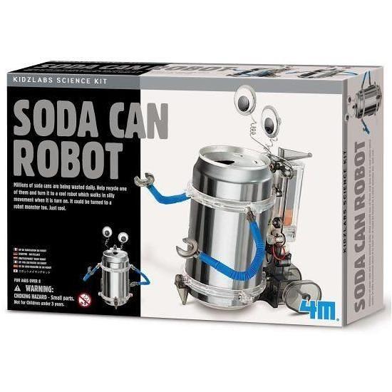 《4M科學探索》創意環保機器人Tin Can Robot ╭★ JOYBUS玩具百貨