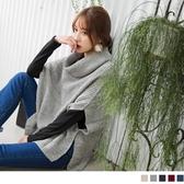 OB嚴選《FA0502-》暖膚升級~翻領兩穿針織上衣‧5色--適 M~XL