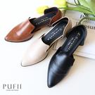限量現貨◆PUFII-鞋子 復古尖頭低跟鞋-0225 現+預 春【CP18049】