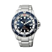 【Citizen星辰】PROMASTER鈦金屬GMT光動能專業潛水腕錶-深海藍/BJ7111-86L/台灣總代理公司貨享兩年保固