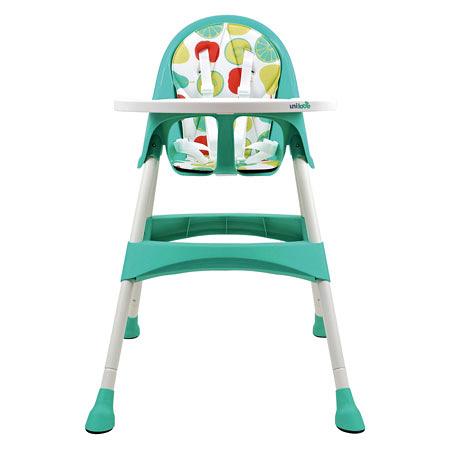 【佳兒園婦幼館】英國 unilove 兒童高腳餐椅 Hoja-Pea 藍綠
