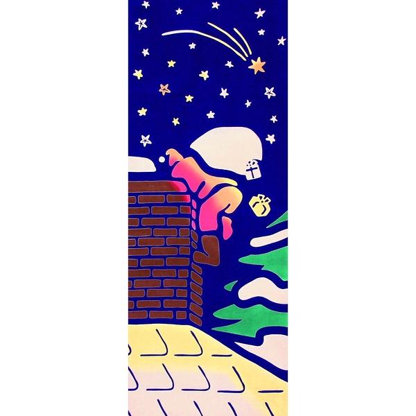 【日本製】【和布華】 日本製 注染拭手巾 進煙囪的耶誕老人圖案 SD-5047 - 和布華
