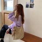 帆布包 可愛帆布包女卡通刺繡單肩包新款日系ins手提包燈芯絨學生上課包【快速出貨八折搶購】