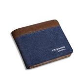 短夾   帆布錢包男士短款薄款小票夾學生橫款皮夾卡包錢夾日韓