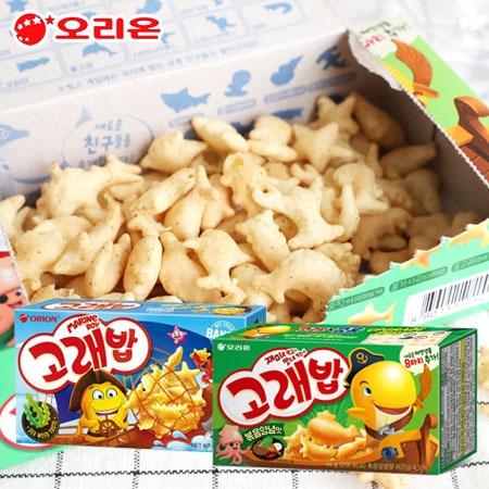 韓國 ORION 好麗友 海洋動物造型餅乾 烤肉味餅乾 海苔餅乾 海洋動物 小魚餅乾 魚型餅乾 小魚餅