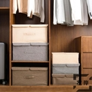 收納箱衣服衣物整理箱有蓋收納盒儲物盒【左岸男裝】