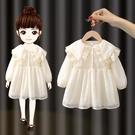 女童連衣裙春秋裝2021新款韓版女寶寶長袖公主裙小童洋氣兒童裙子 幸福第一站