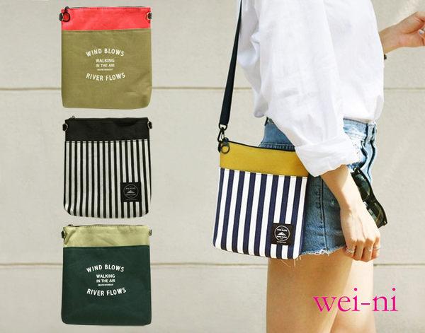 wei-ni 時尚單肩隨身包 最大可放Ipad mini裸機 斜背包/單肩包/零錢包/手機隨身袋/收納袋