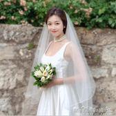 頭紗新款韓式簡約短長款新娘結婚婚紗頭紗氣質款素紗裸紗造型拍照頭紗 晴天時尚館