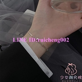 925純銀轉運珠手鏈女設計百搭手飾簡約學生雙層冷淡風飾品【少女顏究院】