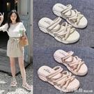 拖鞋 仙女風涼鞋女2021年夏季新款網紅厚底百搭外穿羅馬涼拖鞋ins 618購物節