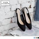 《SD0122》釦環設計仿麂皮尖頭平底鞋 OB嚴選