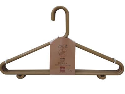 【好市吉居家生活】生活大師 UdiLife JW9386 咖啡牛奶衣之戀大五入彈力軟衣架 晾衣架 曬衣架