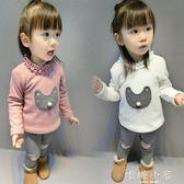 女童打底衫加絨加厚冬2018新款韓版冬裝嬰兒寶寶保暖上衣T恤1-5歲 嬌糖小屋