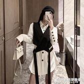 秋季新款復古港味西裝領無袖短款小外套設計感繫帶外穿馬甲女 時尚芭莎