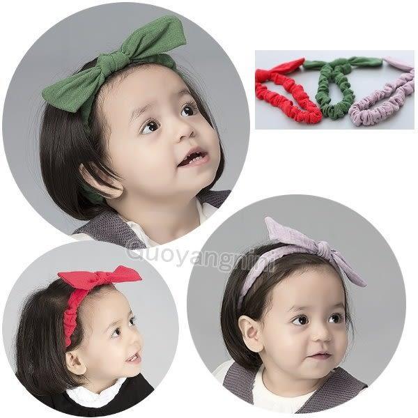 髮飾 現貨3色 韓國立體蝴蝶結款 寶寶 嬰兒 髮帶  頭帶 送禮 搭配禮服-果漾妮妮【 P4016】