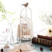 創意鳥籠鐵藝燭臺擺件裝飾品Eb1416『東京衣社』