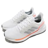 adidas 慢跑鞋 EQ19 Run 白 灰 橘 愛迪達 路跑 記憶鞋墊 入門款 男鞋【ACS】 H00927
