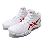 Asics 籃球鞋 Gelhoop V11 白 紅 十一代 高筒 緩震舒適 運動鞋 男鞋【ACS】 1061A015118