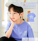 男童T恤短袖夏季2021新款洋氣韓版兒童半袖中大童夏裝透氣薄款潮 夏季新品