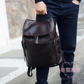 超火新品後背包皮包潮包男生後背背包書包皮革pu皮旅行包