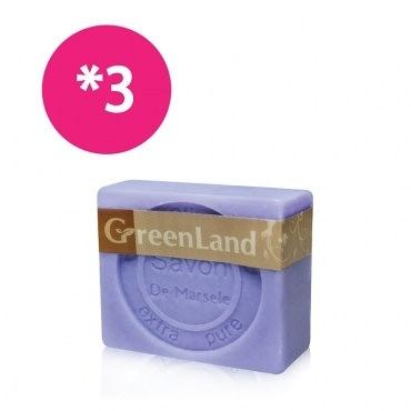 【綺緣】GreenLand 初榨橄欖油薰衣草馬賽皂(3入體驗組)