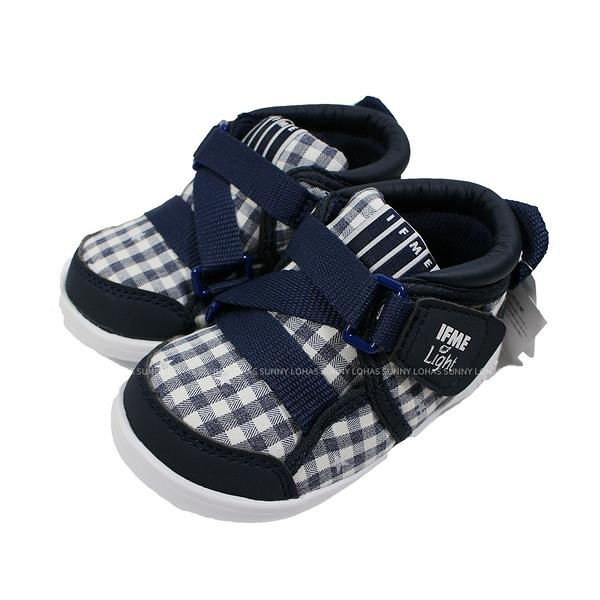 (B8) IFME 日本機能童鞋 Light 護踝 超Q底 學步鞋 IF20-080011 深藍格紋 [陽光樂活]
