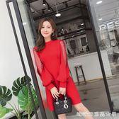 新款女裝春裝韓版百搭蓬蓬裙女時尚氣質小禮服修身春季洋裝 糖糖日系森女屋