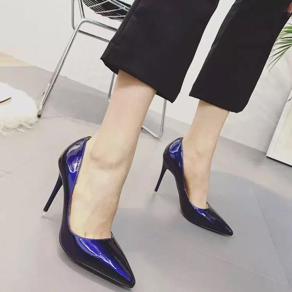 高跟鞋白色高跟鞋女秋2020新款細跟10cm 女款夏淺口尖頭8cm歐美性感單鞋 衣間迷你屋
