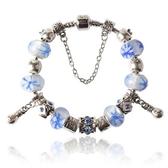 手鍊 串珠-琉璃飾品藍色氣質生日情人節禮物女配件73bm195【時尚巴黎】