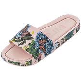 MELISSA  彩繪春天印花時尚拖鞋-粉色