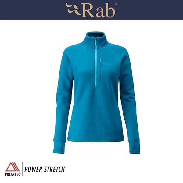 【RAB 英國 女 P/S Pro Pull-On 《馬林藍》】QFE63/運動上衣/透氣/吸濕排汗