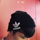 IMPACT Adidas Trefoil Beanie  Fur Cap 毛帽 黑 三葉草 男女百搭 BK7634