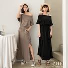 限量現貨◆PUFII-洋裝 正韓側口袋縮腰長洋裝-0408 現+預 春【CP20156】