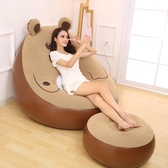 懶人沙發 卡通小熊單人充氣沙發臥室日式懶人沙發床榻榻米小沙發午休沙發椅XQB