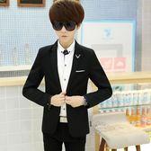 男士休閒西服青年韓版修身春秋季薄款小西裝潮流學生單西上衣外套