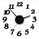 創意DIY數字掛鐘 牆面自黏數字掛鐘 時尚藝術鐘錶 數字時鐘 壁鐘【C106】