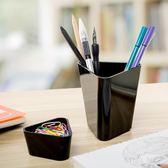 創意筆筒  時尚個性雙層筆筒北歐辦公學生多功能桌面文具收納盒擺件 KB9541【野之旅】