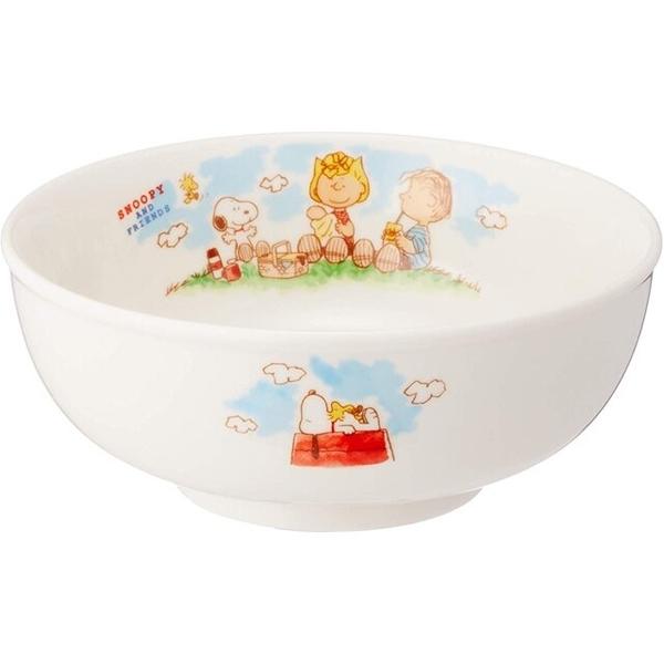 小禮堂 史努比 日本製 陶瓷碗公 (白野餐款) 4964412-61311
