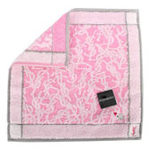 YSL LOGO織紋羊年限量純棉方巾(粉色)932001-1