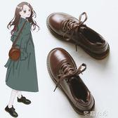 冬季新款韓版百搭皮鞋英倫單鞋小皮鞋女潮復古平底牛津鞋紳士鞋 千惠衣屋