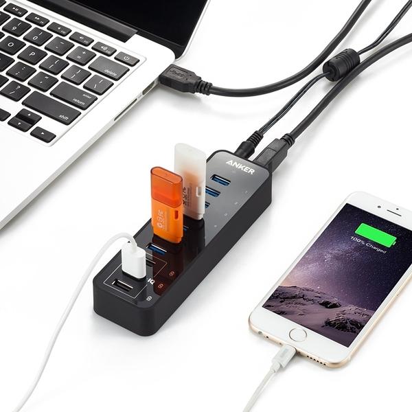 耀您館★美國Anker 7+3埠USB快充集線器PowerIQ USB充電器HUB集線器USB集線器電源供應器電腦集線器