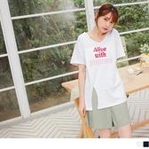 《AB15049-》台灣製造高含棉英文字T恤/上衣 OB嚴選