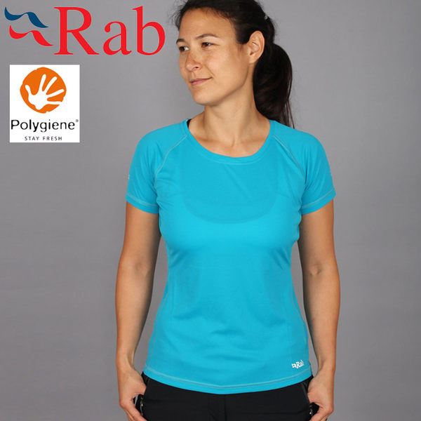 Rab 英國 QBT55-RY皇家藍 女抗菌排汗短T恤 Interval Tee
