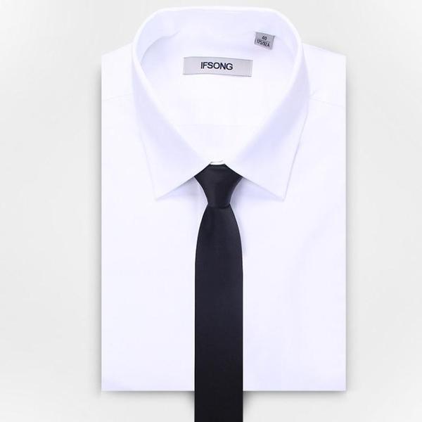 限定款西裝領帶 領帶男正韓窄版5cm黑色男女士 新郎結婚商務正裝學生小休閒