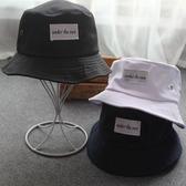 漁夫帽 素色 字母 貼布 休閒 盆帽 防曬 可折疊 遮陽帽 漁夫帽【YFM78】 icoca  08/22