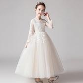兒童禮服高端公主裙女童洋氣蓬蓬紗花童婚紗走秀主持人鋼琴演出服 童趣潮品
